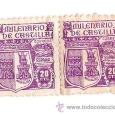 Monedas Franco: MILENARIO DE CASTILLA 1944 .PAREJA UNIDOS *NUEVOS*. Lote 36431357