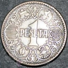 Monedas Franco: MONEDA 1 PESETA 1944 EBC. Lote 36591441