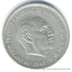 Monedas Franco: 5 PESETAS 1949. *49. Lote 37239536