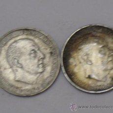 Monedas Franco: LOTE DE DOS MONEDAS DE PLATA DE 100 PESETAS. 1966 - * 66 Y * 68. Lote 37472319