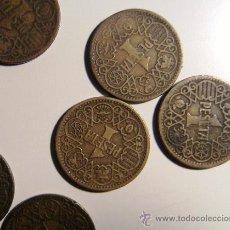 Monedas Franco: LOTE DE 20 MONEDAS DE 1 PESETA DE 1944, . Lote 37859540