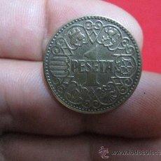 Monedas Franco: UNA PESETA 1944 EBC. Lote 38675589