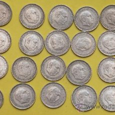 Lote de 25 monedas de 5 pesetas, Franco 1957