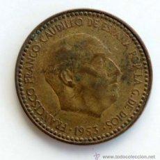 Monedas Franco: UNA PESETA DE FRANCO ERROR - LINEA DE MATERIAL PARTE TRASERA. Lote 39110151