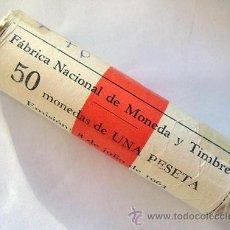 Monedas Franco: CARTUCHO . ESTADO ESPAÑOL. 1 PESETA 1966 *70 . F.N.M.T. ORIGINAL. Lote 39280026