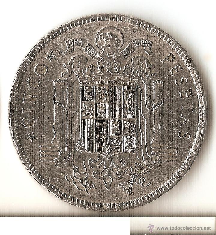 Monedas Franco: 5 pesetas 1949 19*49 SC - Foto 2 - 82130690
