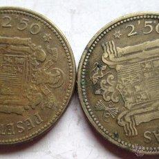 Monedas Franco: 2 DE 2,5O PTAS 1953- (54) Y (*56). Lote 39647102