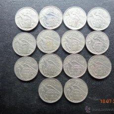 Monedas Franco: ¡ COLECCION COMPLETA DE 25 PESETAS DE FRANCO DE 1957 - 14 MONEDAS (SIN *73) !!. Lote 152700056