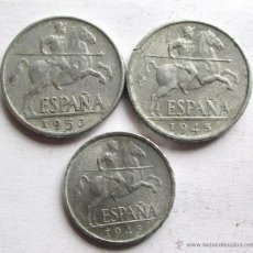 Monedas Franco: 3 DE ALUMINIO. Lote 39735950