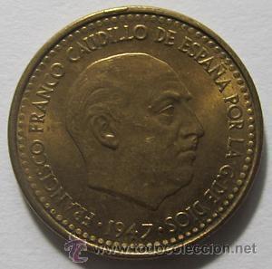 1 PESETA FRANCO 1947 56 MBC EXCELENTE (Numismática - España Modernas y Contemporáneas - Estado Español)