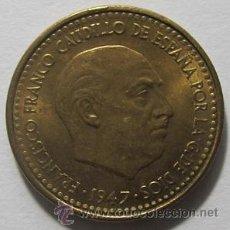 Monedas Franco: 1 PESETA FRANCO 1947 56 MBC EXCELENTE. Lote 36701862