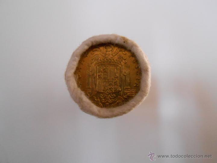 Monedas Franco: LOTE DE 50 MONEDAS ANTIGUAS DE 1 PESETA. EMISION 19-12-1975. FABRICA NACIONAL DE MONEDA Y TIMBRE - Foto 4 - 42761441