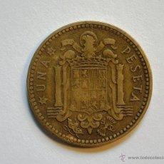 Monedas Franco: MONEDA UNA PESETA, FRANCO. AÑO 1953, ESTRELLA 1962. CIRCULADA.. Lote 43076951