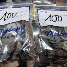 Monedas Franco: LOTE DE 200 MONEDAS DE 25 CENTIMOS 1937 AÑO TRIUNFAL , AGUJERO, ORIGINALES. Lote 45987793