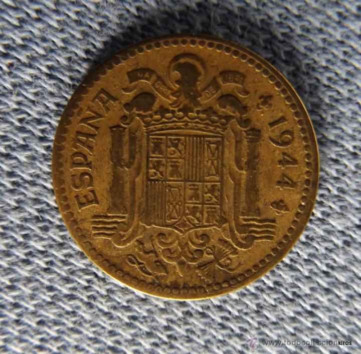 Monedas Franco: MONEDA 1 PESETA 1944 - Foto 2 - 43962143