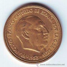 Moedas Franco: ESPAÑA: 2,50 PESETAS 1953 *19 *56* SIN CIRCULAR SPAIN 1956 FRANCISCO FRANCO **NUMISBUR*. Lote 210540671