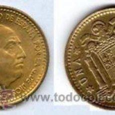 Monete Franco: ESPAÑA 1 PESETA 1963 *19* *64* FRANCISCO FRANCO S/C AÑO 1964 ** NUMISBUR**. Lote 45315124