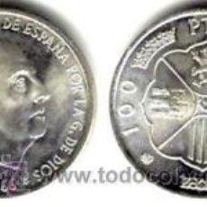 Moedas Franco: ESPAÑA: 100 PESETAS PLATA FRANCO 1966 ESTRELLA 70 (1970) S/C *NUMISBUR*. Lote 146474850