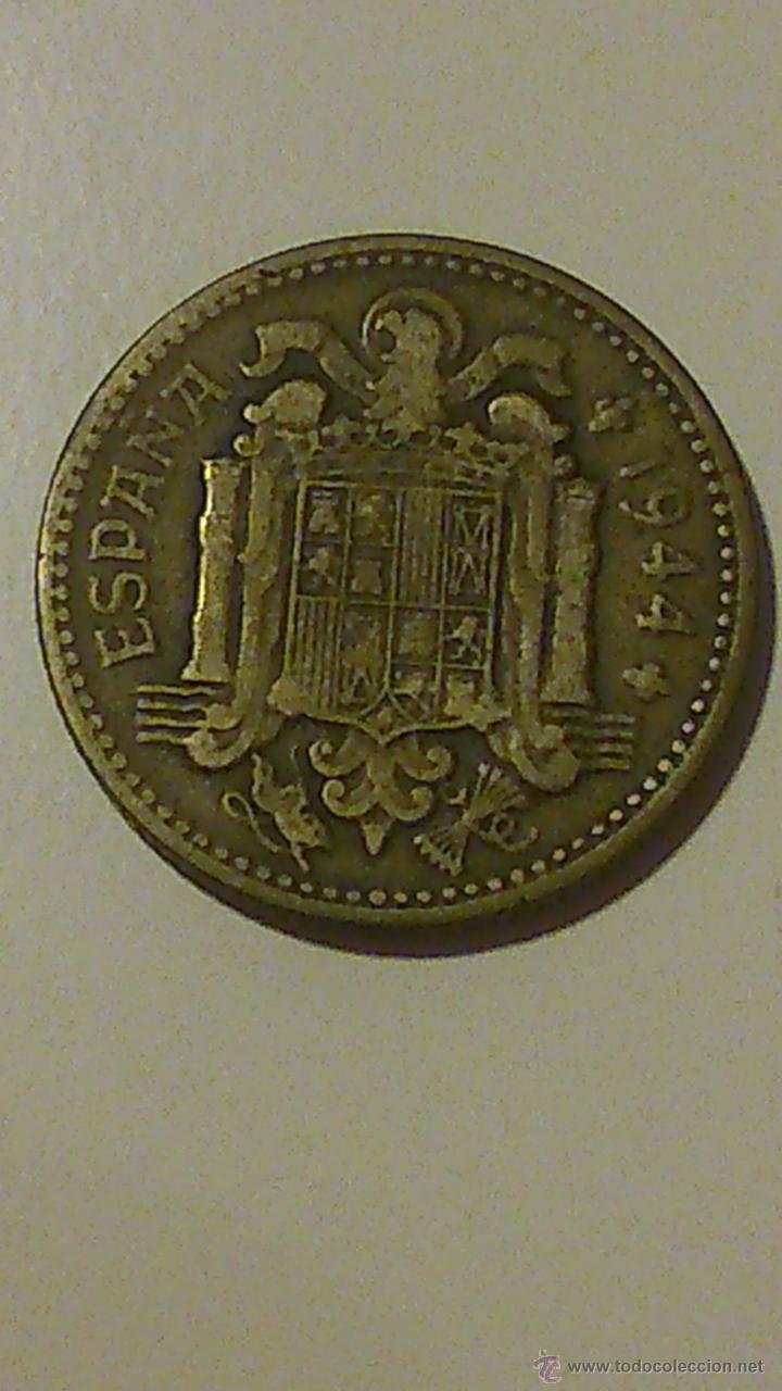MONEDA DE UNA PESETA DE FRANCO DE 1944 (Numismática - España Modernas y Contemporáneas - Estado Español)