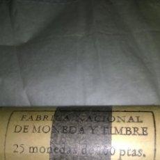 Monedas Franco: FABRICA NACIONAL DE MONEDA Y TIMBRE 25 MONEDAS DE 100 PESETAS. EMISION 19-12-75. Lote 46630398