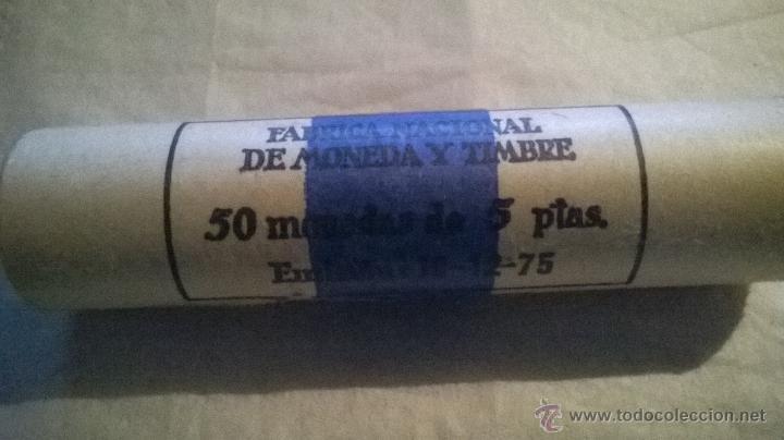 FABRICA NACIONAL DE MONEDA Y TIMBRE 50 MONEDAS DE 5 PESETAS. EMISION 19-12-75 (Numismática - España Modernas y Contemporáneas - Estado Español)