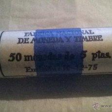 Monedas Franco: FABRICA NACIONAL DE MONEDA Y TIMBRE 50 MONEDAS DE 5 PESETAS. EMISION 19-12-75. Lote 46661627