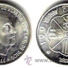Moedas Franco: ESPAÑA: 100 PESETAS PLATA FRANCO 1966 ESTRELLA 66 (1966) S/C *NUMISBUR*. Lote 226354215