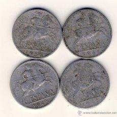 Monedas Franco: 10 CÉNTIMOS FRANCO.- 1940 - 1941 - 1945 Y 1953.-(2). Lote 47045079