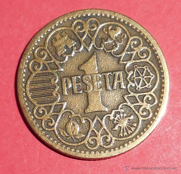 ESPAÑA. MONEDA DE 1 PESETA. 1944. PRECIOSA. (Numismática - España Modernas y Contemporáneas - Estado Español)