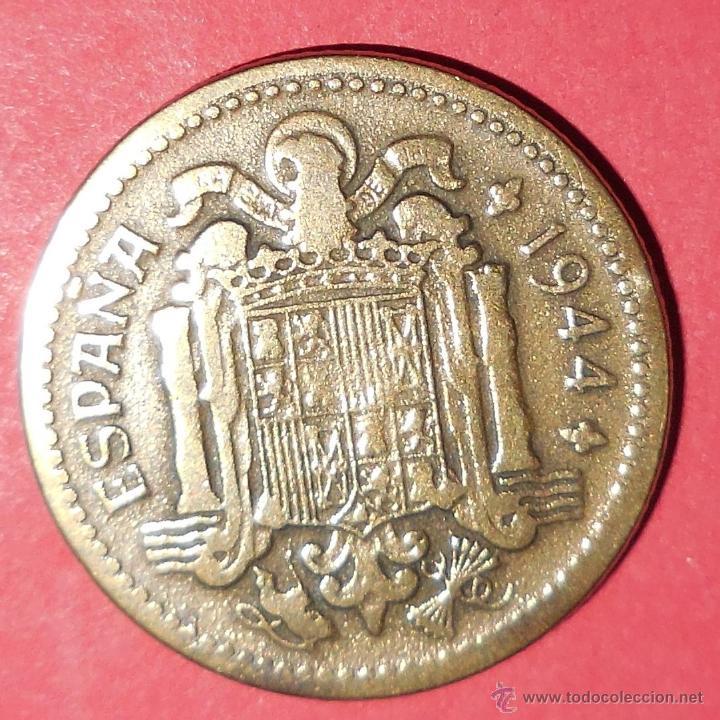 Monedas Franco: ESPAÑA. MONEDA DE 1 PESETA. 1944. PRECIOSA. - Foto 2 - 47147354