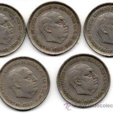 Monedas Franco: OCASIÓN: 25 PESETAS 1957 *58 (LOTE DE 5 MONEDAS). Lote 47928799