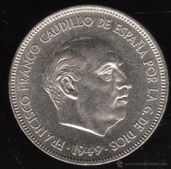 MONEDA DE CINCO PESETAS. FRANCISCO FRANCO. E-51. S/C-. (Numismática - España Modernas y Contemporáneas - Estado Español)