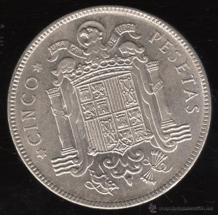 Monedas Franco: MONEDA DE CINCO PESETAS. FRANCISCO FRANCO. E-51. S/C-. - Foto 2 - 23407642