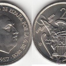 Monedas Franco: FRANCO: 25 PESETAS 1957 * 75 / EXCELENTE CONSERVACION. Lote 48600229