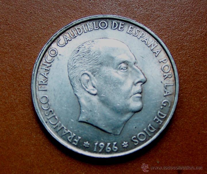 MONEDA DE CIEN PESETAS 100 PESETAS DE FRANCO EN BUEN ESTADO 1966-66 (Numismática - España Modernas y Contemporáneas - Estado Español)