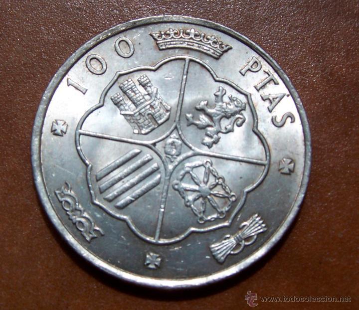 Monedas Franco: Moneda de cien pesetas 100 pesetas de franco en buen estado 1966-66 - Foto 2 - 48731391