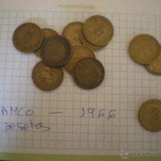 Monedas Franco: LOTE DE 12 MONEDAS DE 1 PESETA-FRANCO-1966,1963,1953. Lote 48739786