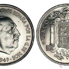 Moedas Franco: ESPAÑA 5 PESETAS 1949 *50* FRANCISCO FRANCO S/C *NUMISBUR*. Lote 210540688