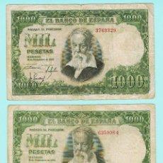 Monedas Franco: 2 BILLETES DE ESPAÑA DE 1000 PTAS SIN SERIE (080) BC. Lote 49120662