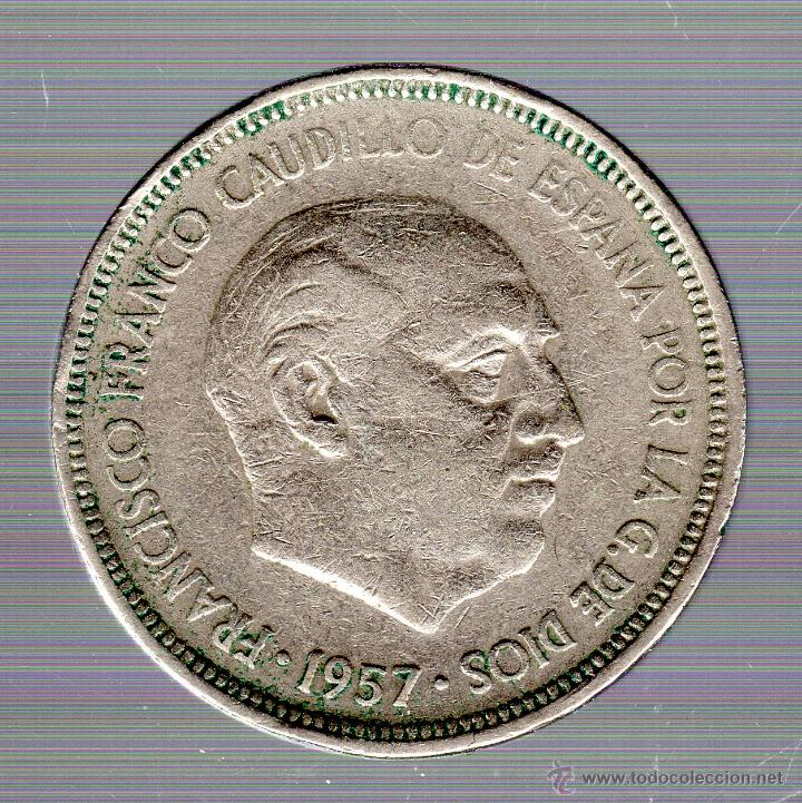 FRANCO. 5 PESETAS. 1957 BA. EXPOSICION BARCELONA. (Numismática - España Modernas y Contemporáneas - Estado Español)