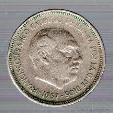 Monedas Franco: FRANCO. 5 PESETAS. 1957 BA. EXPOSICION BARCELONA.. Lote 54163586