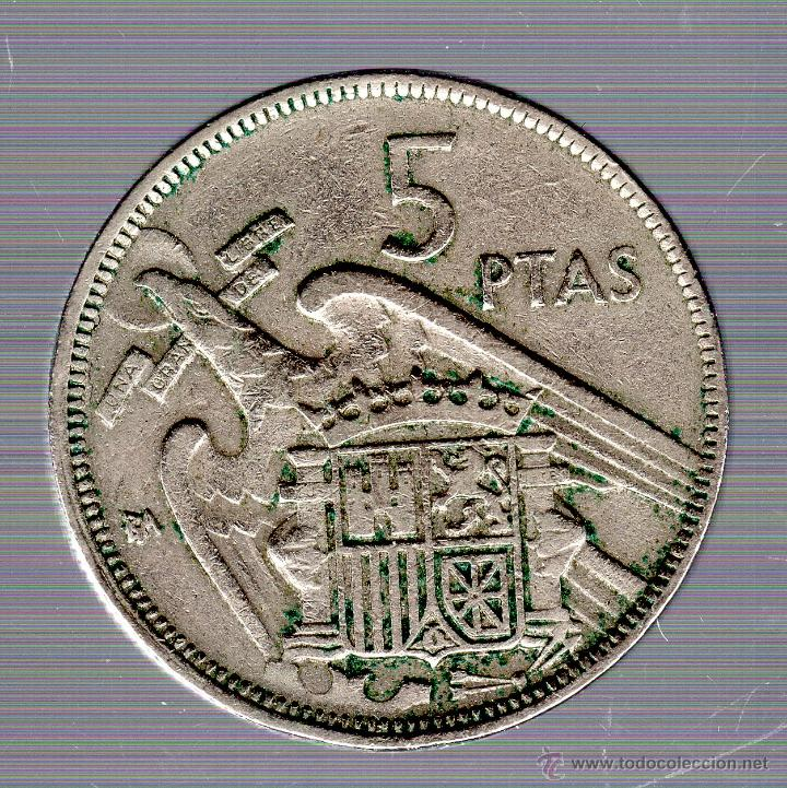 Monedas Franco: FRANCO. 5 PESETAS. 1957 BA. EXPOSICION BARCELONA. - Foto 2 - 54163586