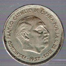 Monedas Franco: FRANCO. 25 PESETAS. 1957. BA. S/C. EXPOSICION BARCELONA. Lote 49241714