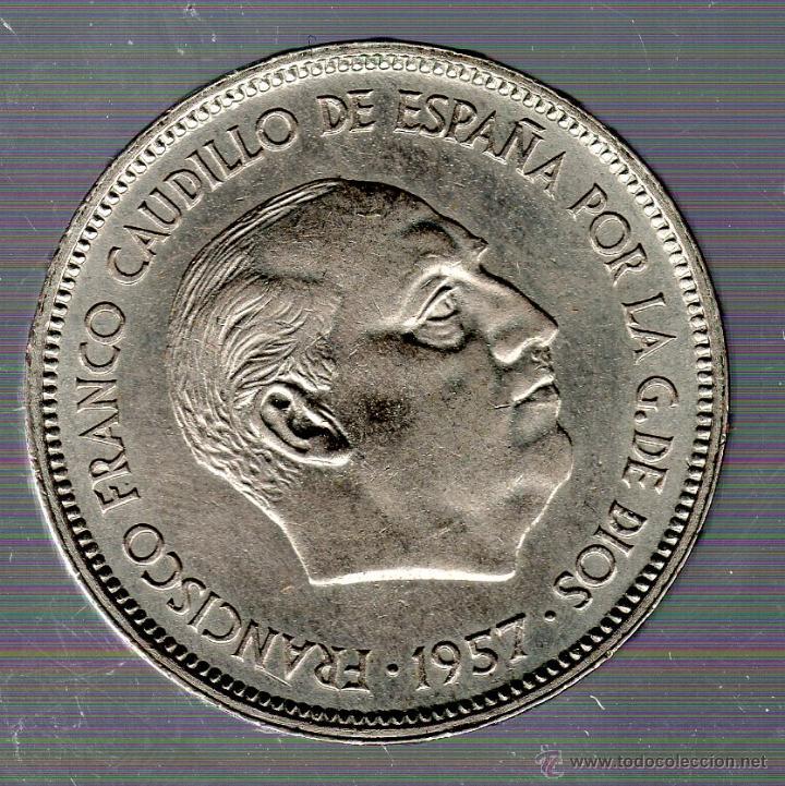 FRANCO. 25 PESETAS. 1957. BA. S/C. EXPOSICION BARCELONA (Numismática - España Modernas y Contemporáneas - Estado Español)