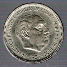 Monedas Franco: FRANCO. 50 PESETAS. 1957. BA. S/C. EXPOSICION BARCELONA. Lote 49241751