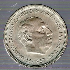 Monedas Franco: FRANCO. 50 PESETAS. 1957. BA. S/C. EXPOSICION BARCELONA. Lote 49241779