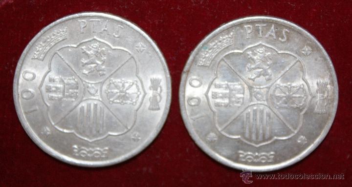 Monedas Franco: 2 MONEDAS DE 100 PESETAS 1966 DE PLATA, FRANCO ,ORIGINAL - Foto 2 - 49414331