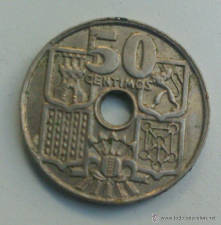 Espana Moneda De 50 Centimos De Peseta Ano 1949