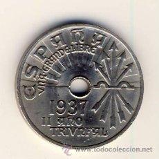 Monedas Franco: 25 CÉNTIMOS 1937.- II AÑO TRIUNFAL.- EBC++.- (2). Lote 51406743