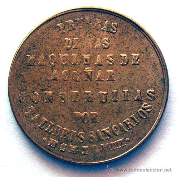 Monedas Franco: MONEDAS DEL MUNDO . ESPAÑA . ESTADO ESPAÑOL . PRUEBA TALLERES SAN CARLOS 1948 - Foto 2 - 51422316